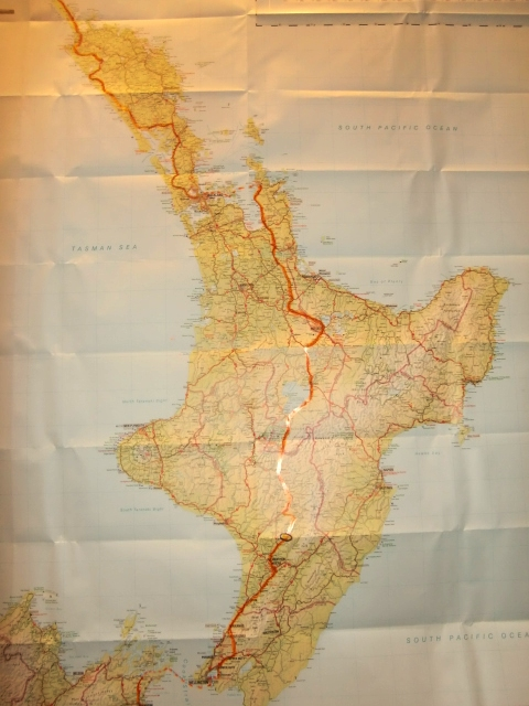 North Island route, hanging in the study, for Jenny to follow